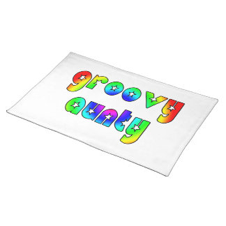 Cool Aunts Christmas & Birthdays : Groovy Aunty Cloth Place Mat