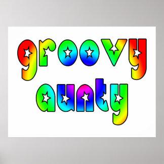 Cool Aunts Christmas & Birthdays : Groovy Aunty Print