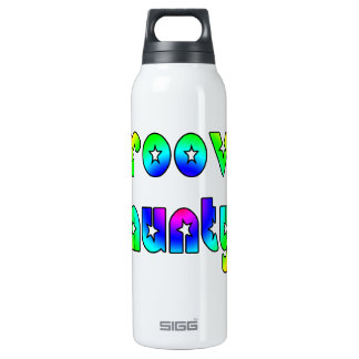 Cool Aunts Christmas & Birthdays : Groovy Aunty 16 Oz Insulated SIGG Thermos Water Bottle