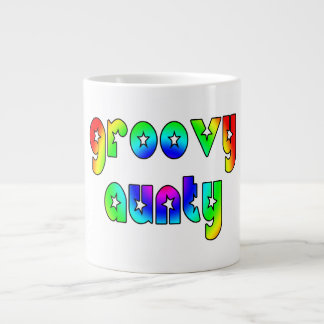Cool Aunts Christmas & Birthdays : Groovy Aunty 20 Oz Large Ceramic Coffee Mug