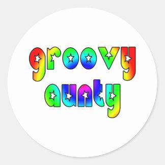 Cool Aunts Christmas & Birthdays : Groovy Aunty Classic Round Sticker