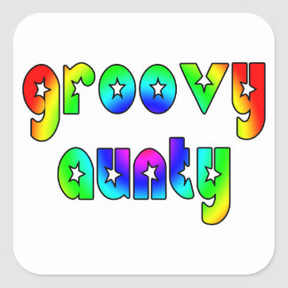 Cool Aunts Christmas & Birthdays : Groovy Aunty Square Sticker
