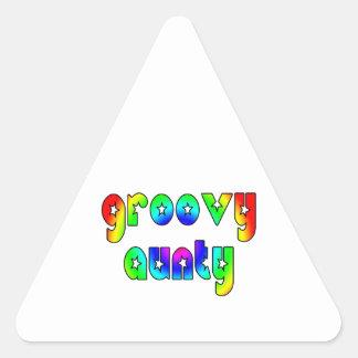 Cool Aunts Christmas & Birthdays : Groovy Aunty Triangle Sticker