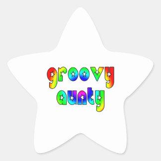 Cool Aunts Christmas & Birthdays : Groovy Aunty Star Sticker