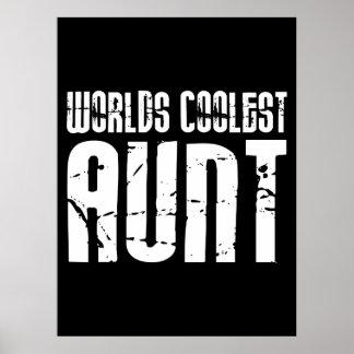 Cool Aunty Aunts Aunties : Worlds Coolest Aunt Print
