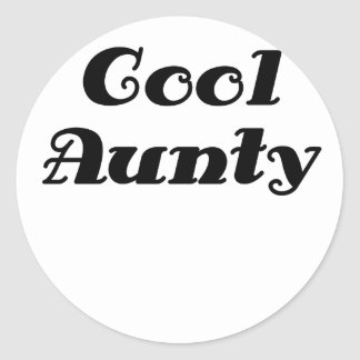 Cool Aunty Classic Round Sticker