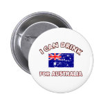 Cool Australia Drinking Designs Pinback Buttons