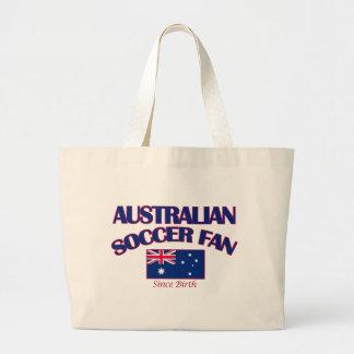 cool Australian soccer DESIGNS Large Tote Bag