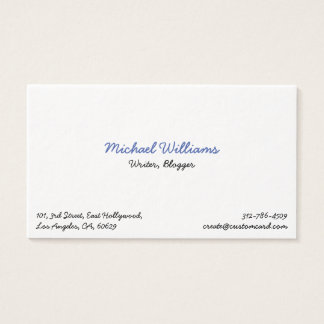 Cool Author Blogger Writer Premium Business Card