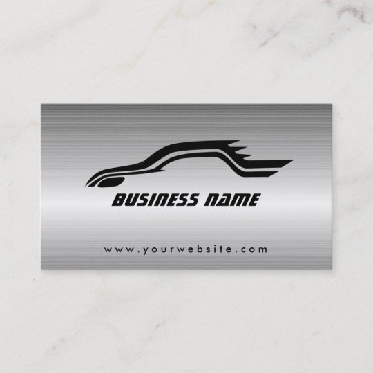 Cool Auto Outline Metal Car Business Cards