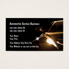 Cool Automotive Business Cards at Zazzle