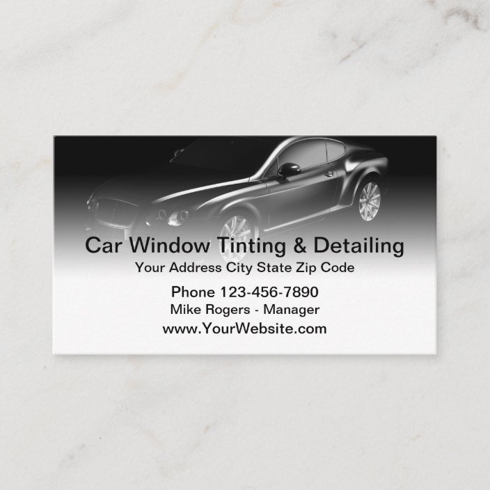Window Tinting Detailing Business Card