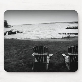 Cool Autumn Day on the Water Mousepad