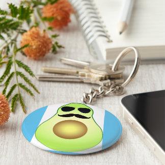 Cool avocado key ring keychain