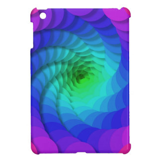 Cool Awesome Colorful Swirling Patterns Rainbow iPad Mini Case