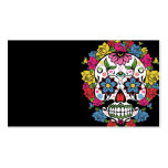 Cool awesome colourful swirls dots flowers skull business cards