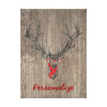 Cool awesome funny trendy deer sketch gallery wrapped canvas