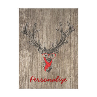 Cool awesome funny trendy deer sketch canvas print
