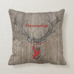 Cool awesome funny trendy deer sketch pillow