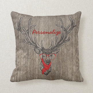Cool awesome funny trendy deer sketch throw pillows