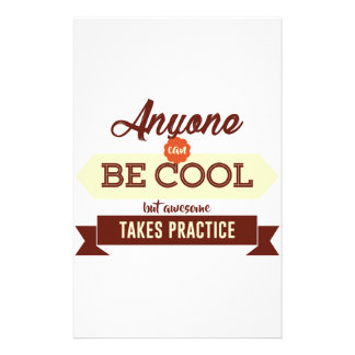 Cool & Awesome Practice Makes Perfect Stationery