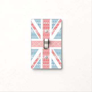 Cool awesome trendy Aztec U.K.Union Jack Flag Light Switch Plates