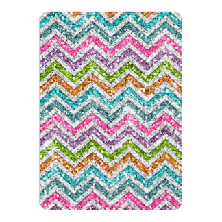 Cool awesome trendy bright colours chevron zigzag card