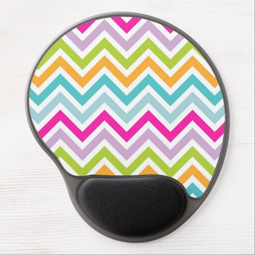 Cool awesome trendy bright colours chevron zigzag gel mousepads