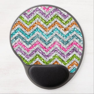 Cool awesome trendy bright colours chevron zigzag gel mouse pad