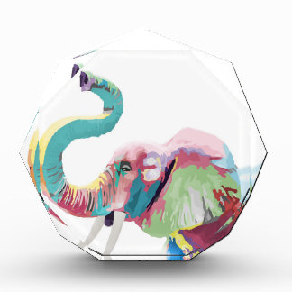 Cool awesome trendy colorful vibrant elephant award