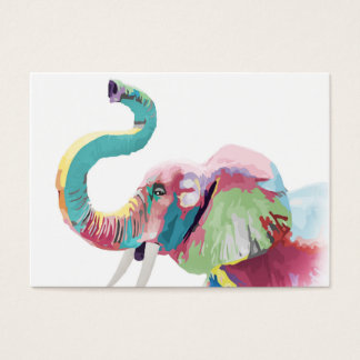 Cool awesome trendy colorful vibrant elephant large business card