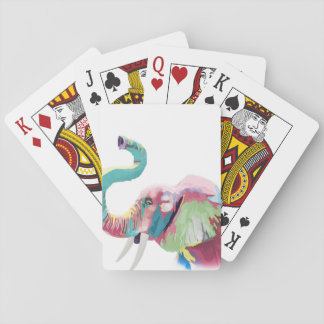 Cool awesome trendy colorful vibrant elephant playing cards