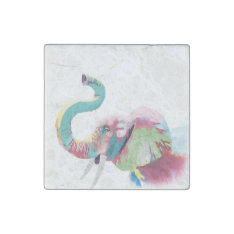 Cool Awesome Trendy Colorful Vibrant Elephant Stone Magnet at Zazzle