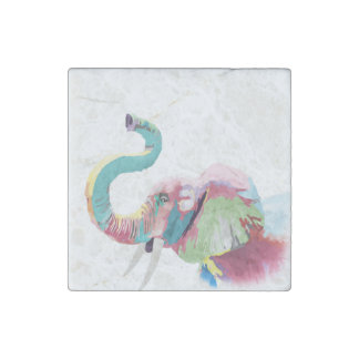 Cool awesome trendy colorful vibrant elephant stone magnet
