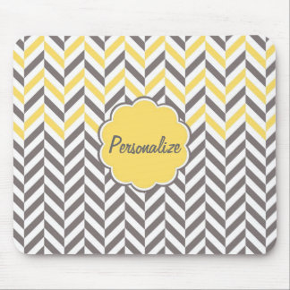 Cool awesome trendy herringbone zigzag pattern mouse pad