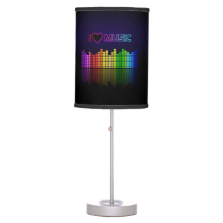 """Cool awesome trendy """"I Love Music"""" neon colours Table Lamp"""