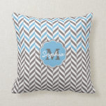 Cool awesome trendy monogram herringbone zigzag pillows
