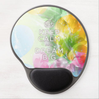 """Cool awesome trendy quote """"Keep Calm and Dream Big Gel Mouse Pad"""