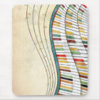 Cool awesome wavy piano retro colours antique mouse pad