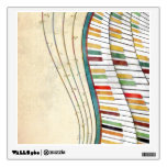 Cool awesome wavy piano retro colours antique wall graphics