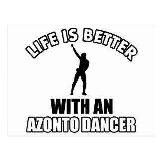 Cool Azonto designs Postcard