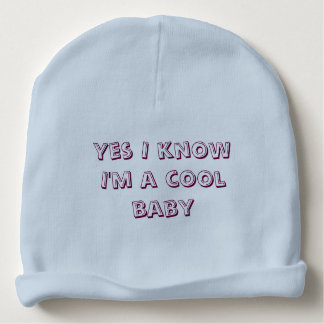 Cool baby blue baby beanie