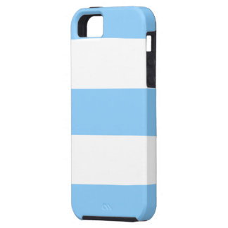 Cool Baby Blue & White Stripe iPhone 5 Case Gift