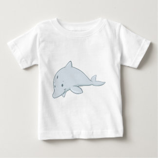 Cool Baby Bottlenose Dolphin Cartoon Baby T-Shirt