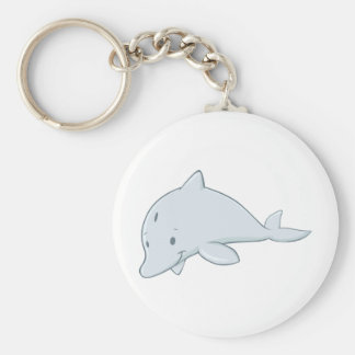 Cool Baby Bottlenose Dolphin Cartoon Keychain