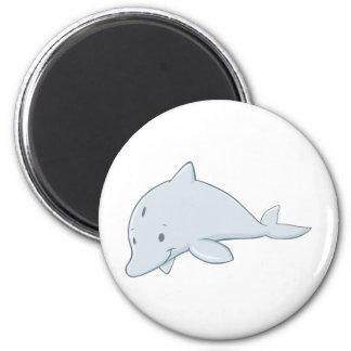 Cool Baby Bottlenose Dolphin Cartoon Magnet
