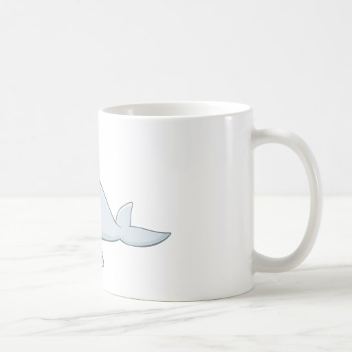 Cool Baby Bottlenose Dolphin Cartoon Classic White Coffee Mug