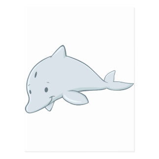 Cool Baby Bottlenose Dolphin Cartoon Post Card
