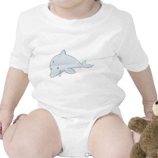 Cool Baby Bottlenose Dolphin Cartoon T Shirt