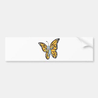Cool Baby Buttefly Cartoon Bumper Sticker